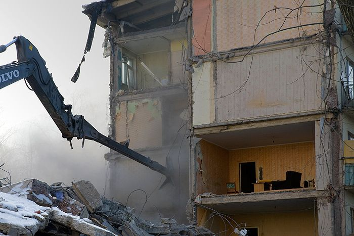 demolition of the houses in Russia 1