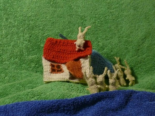 Russian knitted hares 10