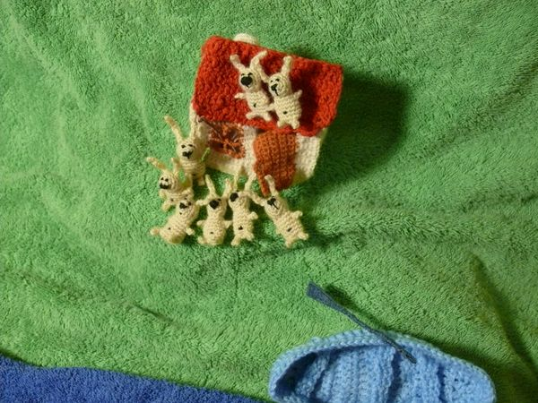 Russian knitted hares 22