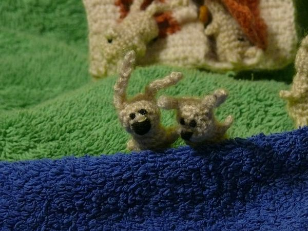 Russian knitted hares 9