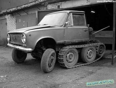 russian lada, now as a tank