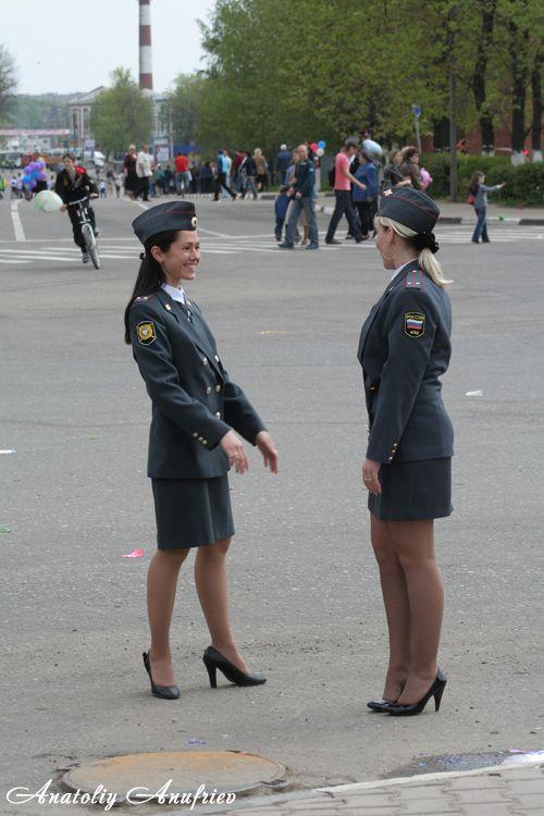 Russian girls in Russian police 1