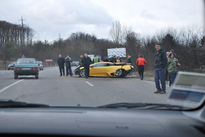 Russian Lamborghini Crash 2