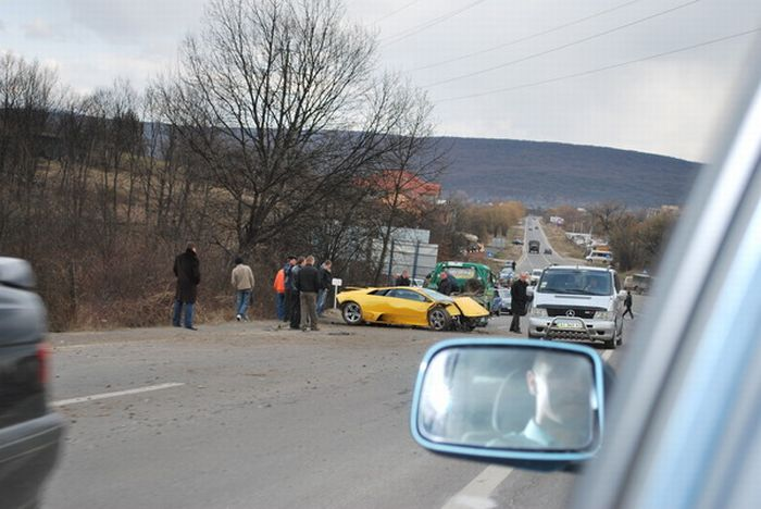 Russian Lamborghini Crash 3