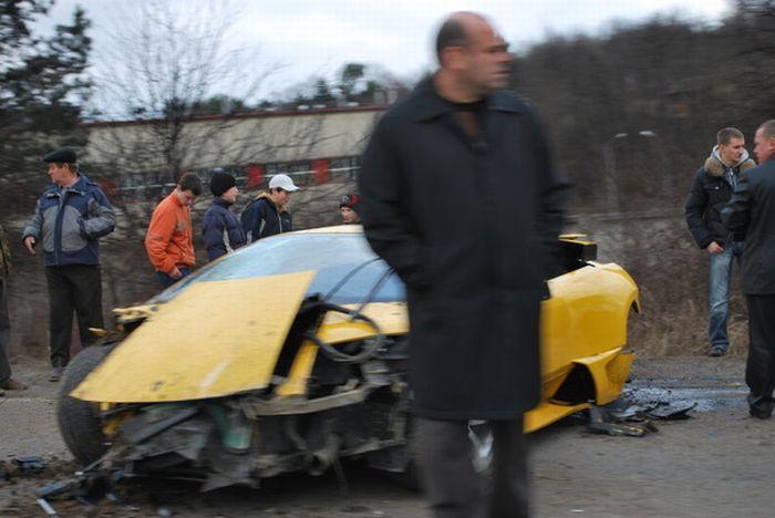 Russian Lamborghini Crash 5