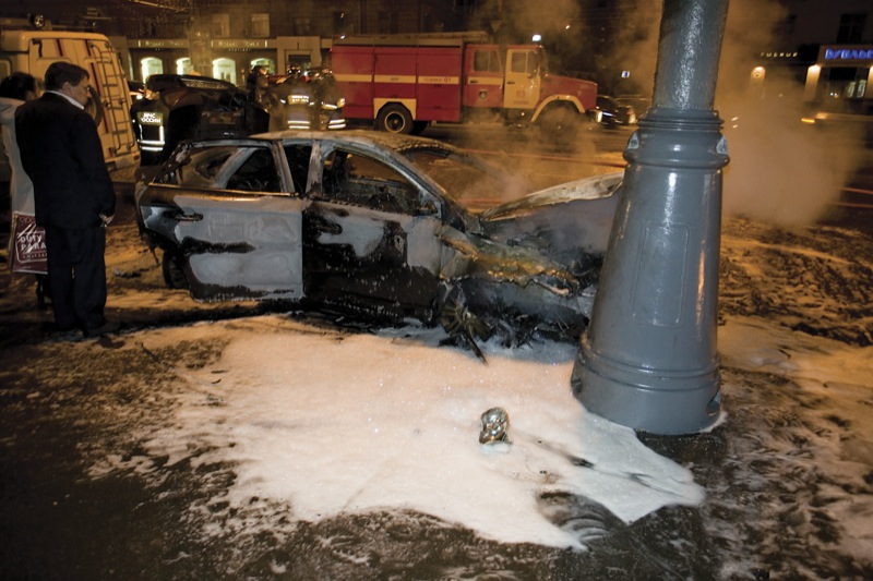 Lamborghini in Russia, crashed in Moscow 23