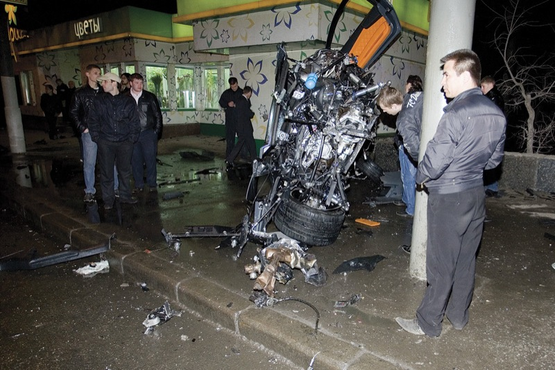 Lamborghini in Russia, crashed in Moscow 26