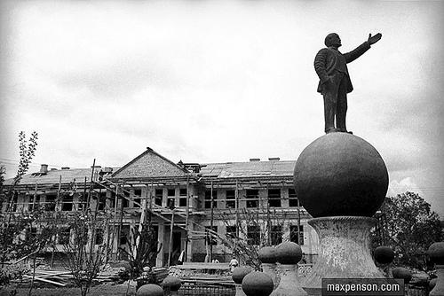 Lenin standing on the ball 6