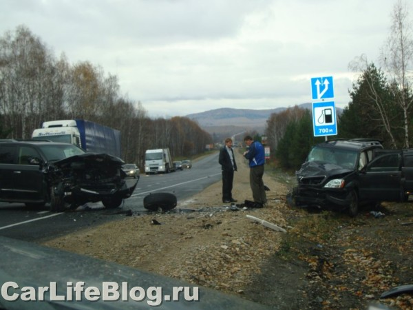 Lexus crash in Russia