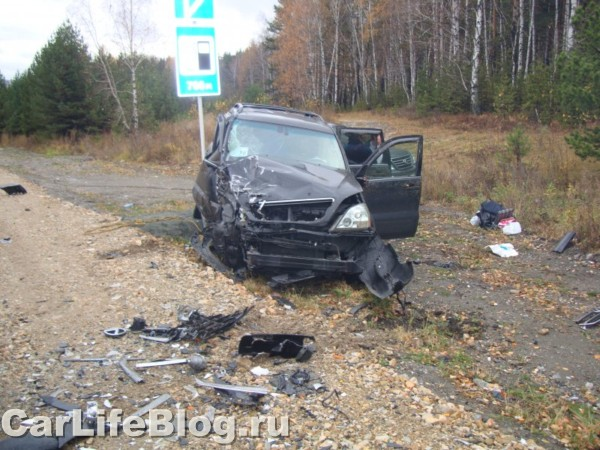 Lexus crash in Russia 2