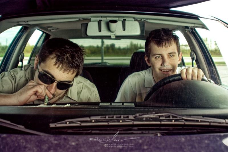 Russian life in car