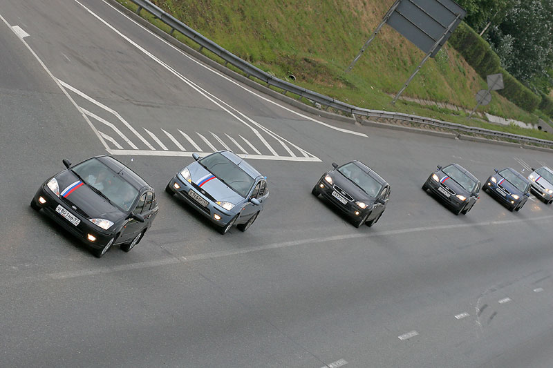 longest car procession ever, consisted of ford focuses in Russia 1