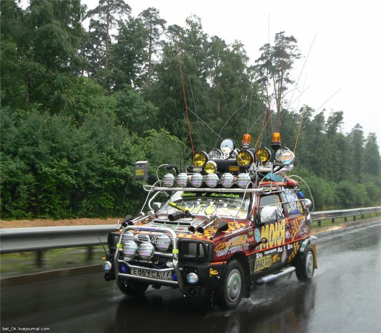 Russian car with many lights 8