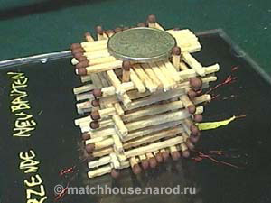 russian houses made from matches, matchhouse part 1