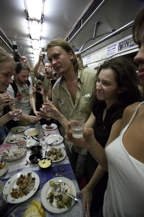 party in the metro train 11