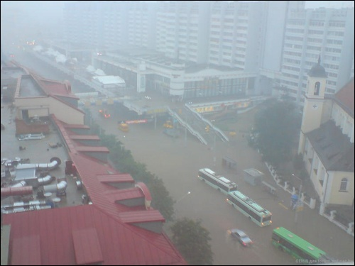 Flooding in Minsk