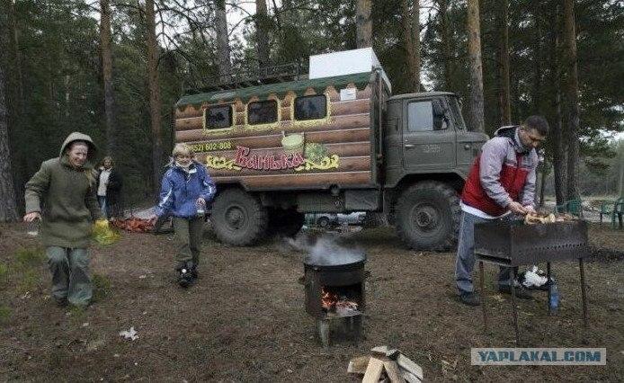 Mobile Russian sauna.  4