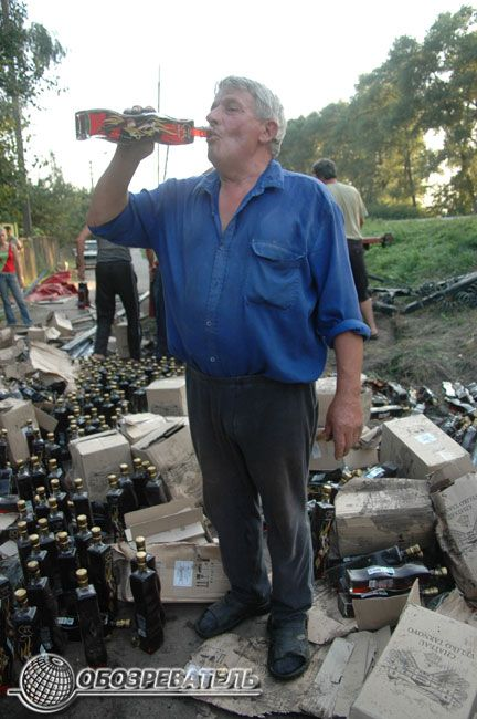 car accident with moldavian wine 1
