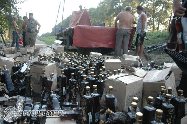 car accident with moldavian wine 7