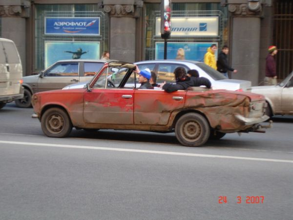 lada 110 tuning. weird Russian tuning and car