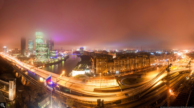 Moscow City in Fog