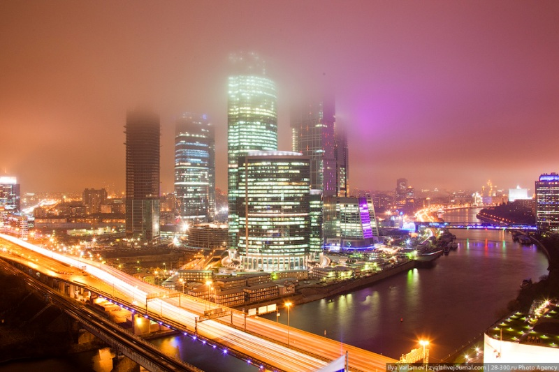 Moscow City in Fog 15