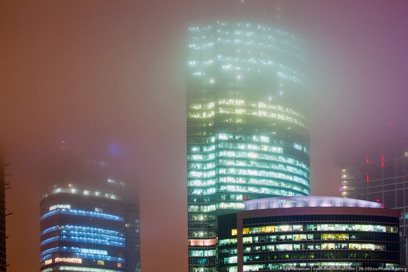 Moscow City in Fog 16