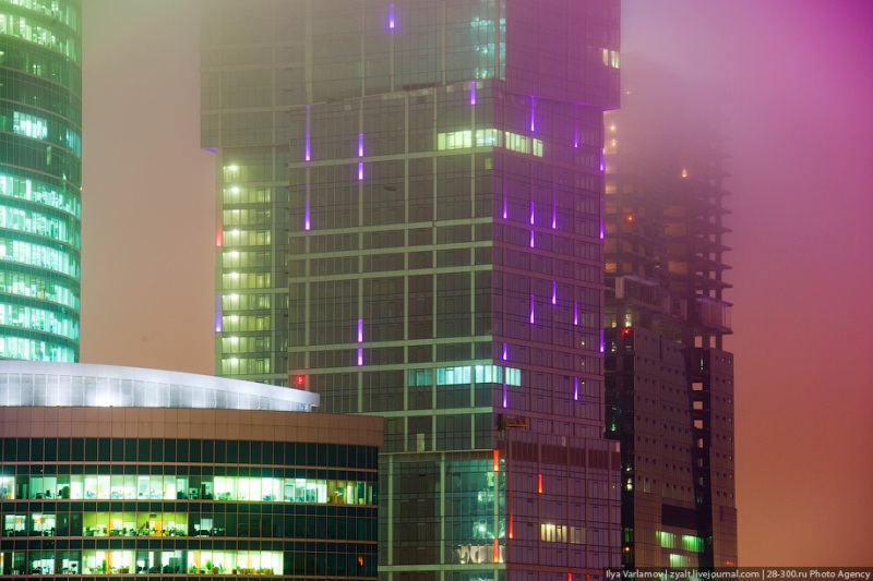 Moscow City in Fog 17