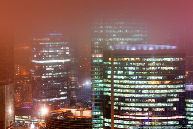 Moscow City in Fog 18