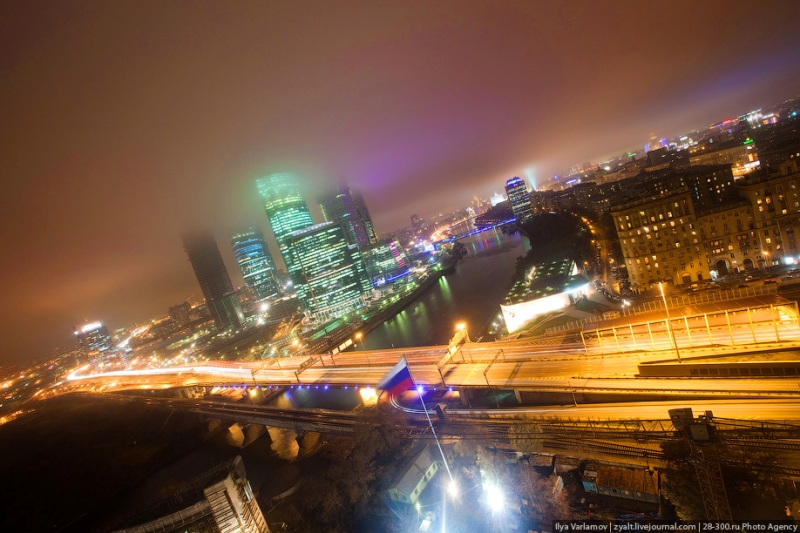 Moscow City in Fog 2