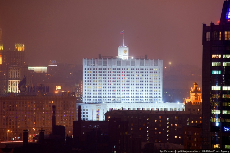 Moscow City in Fog 26