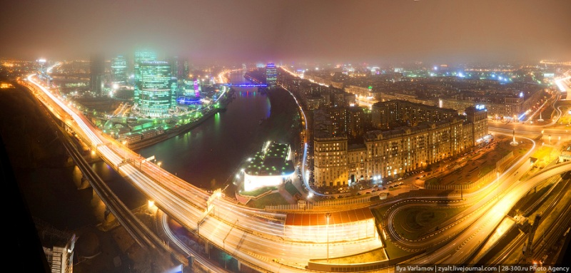 Moscow City in Fog 3
