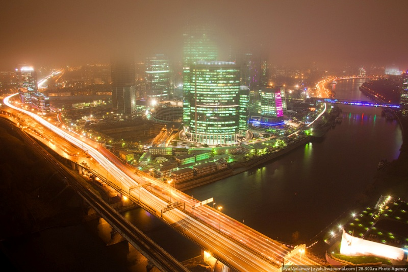 Moscow City in Fog 4