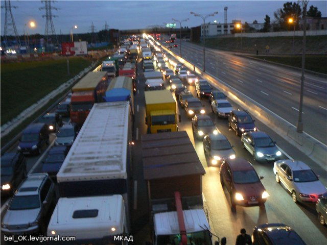 Russian traffic in Moscow 2
