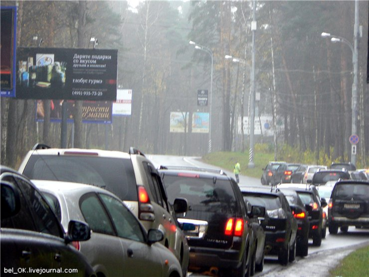 Russian traffic in Moscow 8