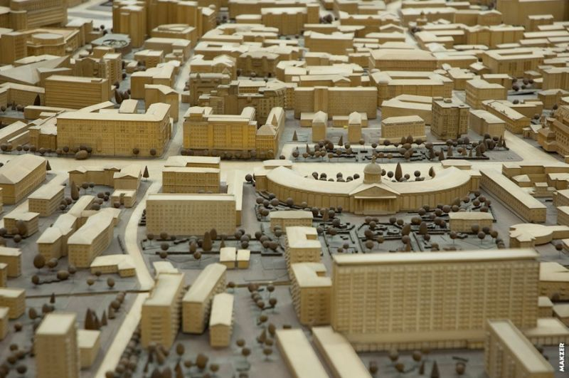 Large model of Moscow exhibited 2