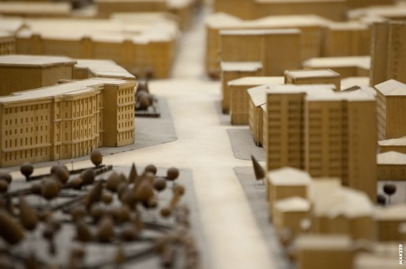 Large model of Moscow exhibited 4