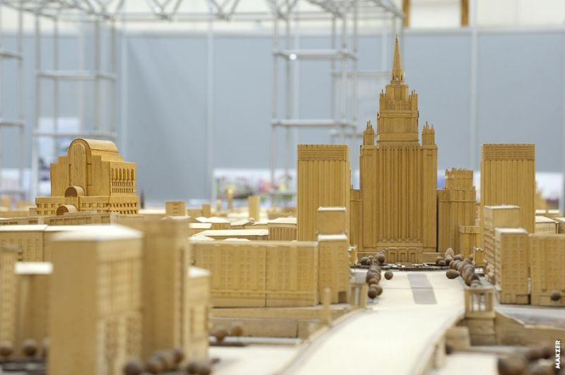 Large model of Moscow exhibited