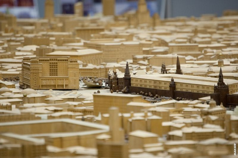 Large model of Moscow exhibited 13