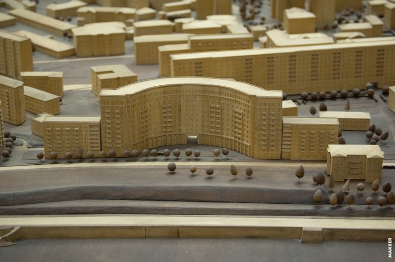 Large model of Moscow exhibited 14