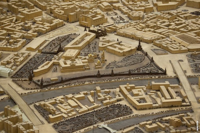 Large model of Moscow exhibited 15