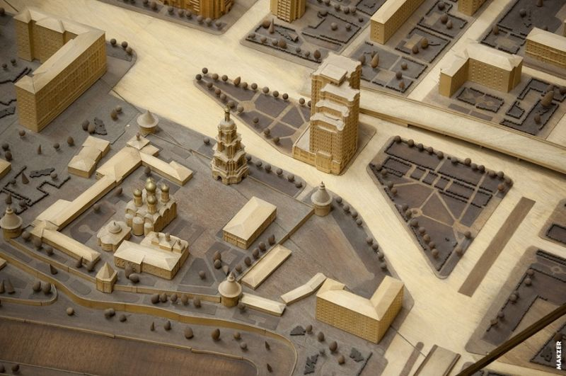 Large model of Moscow exhibited 16