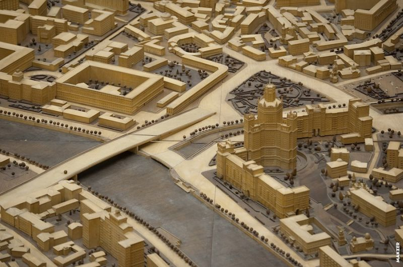 Large model of Moscow exhibited 18