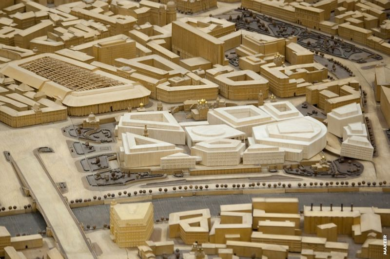 Large model of Moscow exhibited 19
