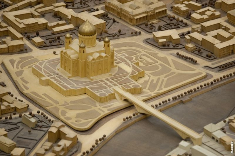 Large model of Moscow exhibited 20