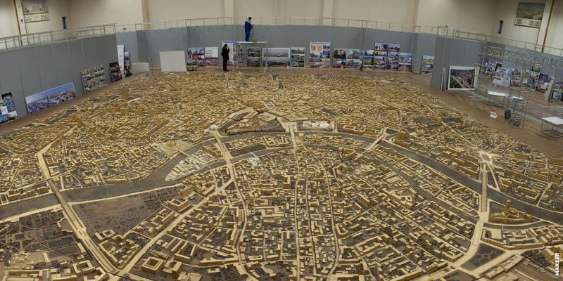 Large model of Moscow exhibited 23