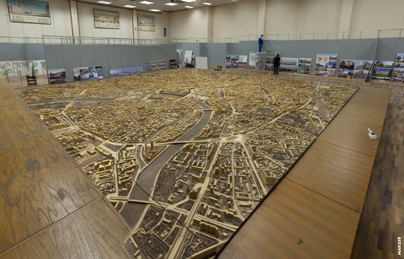 Large model of Moscow exhibited 27