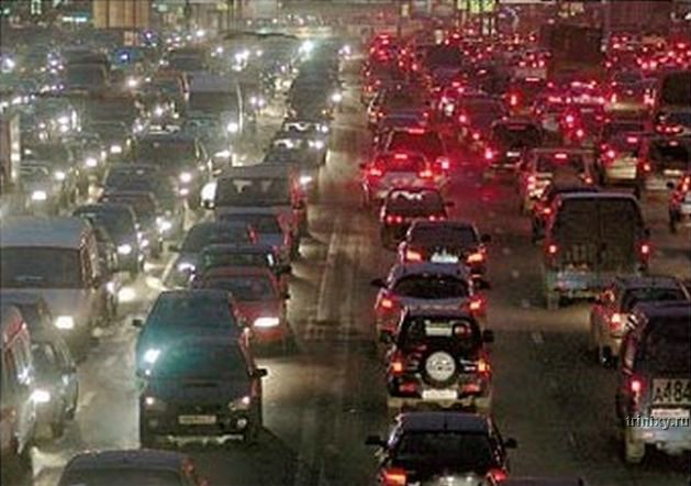 traffic jam in Moscow, Russia 1