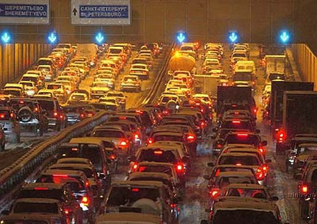 traffic jam in Moscow, Russia 2