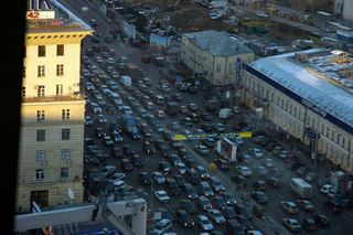 Moscow city traffic